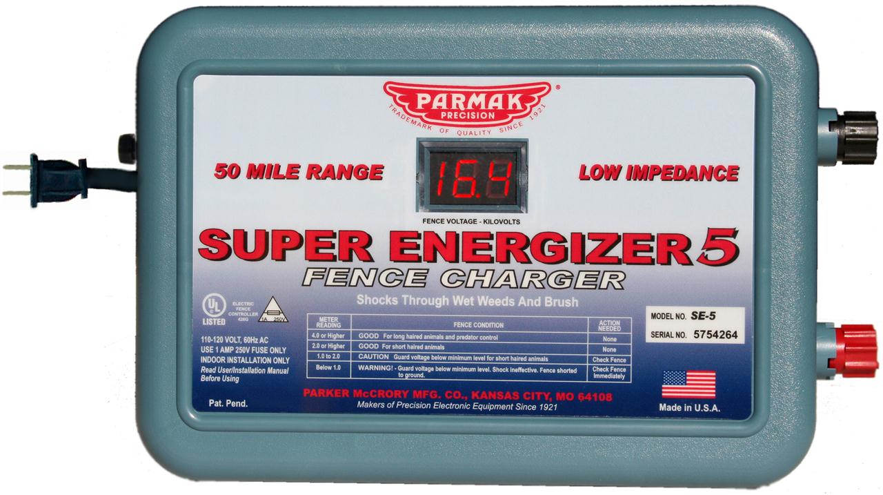 parker mccrory mfg co super energizer 5 parmak ac powered electric rh doublecreekcattle com Electrical Symbol for Fuse Electrical Fuse Box